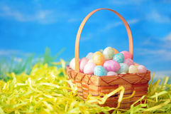Colorful egg candies Stock Photos