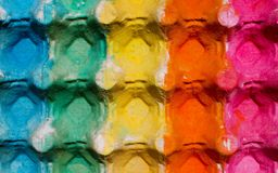 Colorful egg cardboard carton painted Royalty Free Stock Image