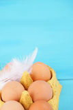 Colorful egg carton Royalty Free Stock Image