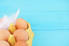 Colorful egg carton Stock Photo