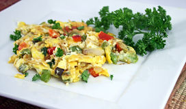 Colorful egg omelet Royalty Free Stock Photos
