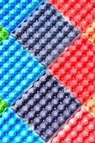 Colorful egg trays background Royalty Free Stock Photos