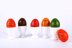 Colorful eggs Stock Images