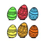 Colorful eggs Royalty Free Stock Photos
