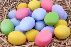 Colorful of eggs Stock Photography