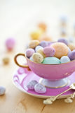 Colorful eggs for a happy easter Royalty Free Stock Photo
