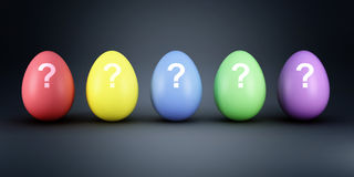 Colorful eggs mistery Royalty Free Stock Image
