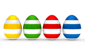 Colorful eggs series Stock Images