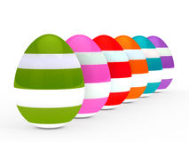 Colorful eggs series Stock Photos