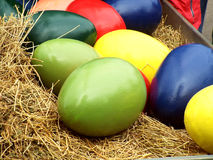 Colorful eggs tradition Stock Images
