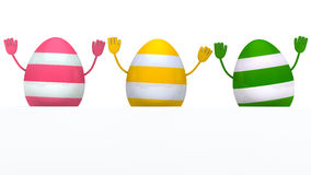Colorful eggs wave Royalty Free Stock Photos