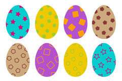 Colorful eggs Stock Image