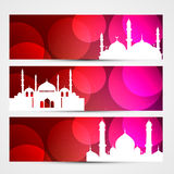 Colorful Eid Headers Royalty Free Stock Image