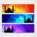 Colorful eid headers Stock Photography