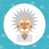 Colorful Einstein design. Einstein icon. Science laboratory chemistry and research theme. Colorful design. Vector illustration royalty free illustration