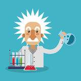 Colorful Einstein design. Einstein icon. Science laboratory chemistry and research theme. Colorful design. Vector illustration stock illustration