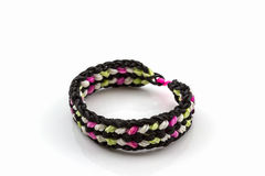 Colorful of elastic rainbow loom bands. Stock Photography