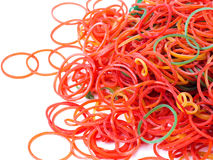 Colorful elastic rubber bands isolated Stock Photos