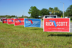 Colorful  Election vote sign voting for Rick Scott for Florida Governer Stock Image