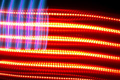Colorful electric American flag. Light patterns shot in a studio used to create an abstract electric American flag Stock Photos