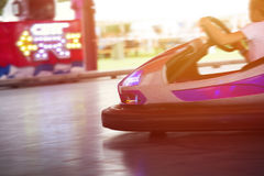 Colorful electric bumper car in autodrom in the fairground attra. Ctions at amusement park Royalty Free Stock Image