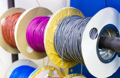 Colorful electric cable. A colorful electric line cable Royalty Free Stock Images