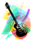 Colorful electric guitar illustration Royalty Free Stock Image