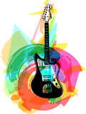 Colorful electric guitar illustration Royalty Free Stock Photos