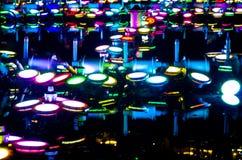Colorful electric light bulbs Stock Photos