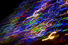 Free Colorful Electric Lights In Motion Over Black Stock Images - 35844024