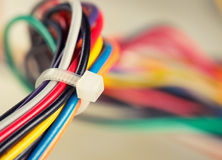 Colorful electrical cables Royalty Free Stock Images