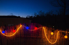 Colorful Electrical garland Stock Photography