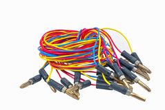 Colorful electrical wires Stock Image