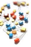 Colorful Electronic Components Royalty Free Stock Photo
