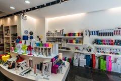 Colorful electronics store Soho Central Hong Kong Stock Photo