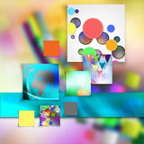 Colorful  elegant on abstract background. Colorful elegant on abstract background stock illustration