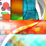 Colorful elegant on abstract background stock illustration