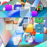 Colorful elegant on abstract background Stock Photo