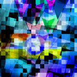Colorful elegant on abstract background Stock Images