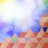 Colorful elegant on abstract background Stock Image