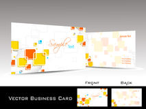 colorful elegant concept business card Royalty Free Stock Image