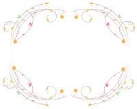 Colorful elegant floral frame vector background Stock Image