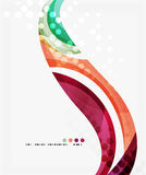 Colorful elegant flowing wave. Vector template background for workflow layout, diagram, number options or web design Stock Illustration