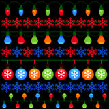 Colorful elements for Christmas and New Year Royalty Free Stock Photos