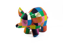 Colorful elephant bath toy Royalty Free Stock Photo