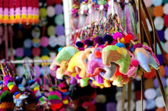 Colorful elephant decoration keychain Stock Image