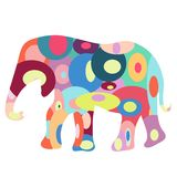 Colorful elephant Stock Image