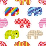 Colorful elephants pattern. Colorful elephants. Seamless vector pattern Royalty Free Stock Photo