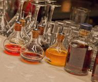 Colorful Elixirs in Mid-Town Manhattan Stock Images