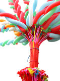 Colorful elongated balloon Stock Image